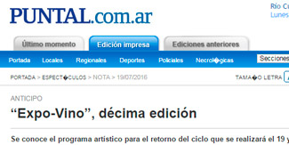 Prensa – Expovino Río Cuarto 2016 – Un clásico del buen gusto – 19 y ...